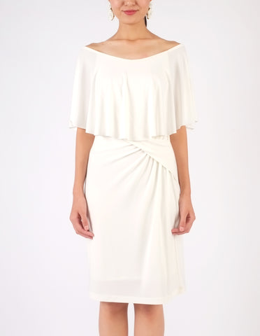 Holly Off-Shoulder Short Dress (Ivory)