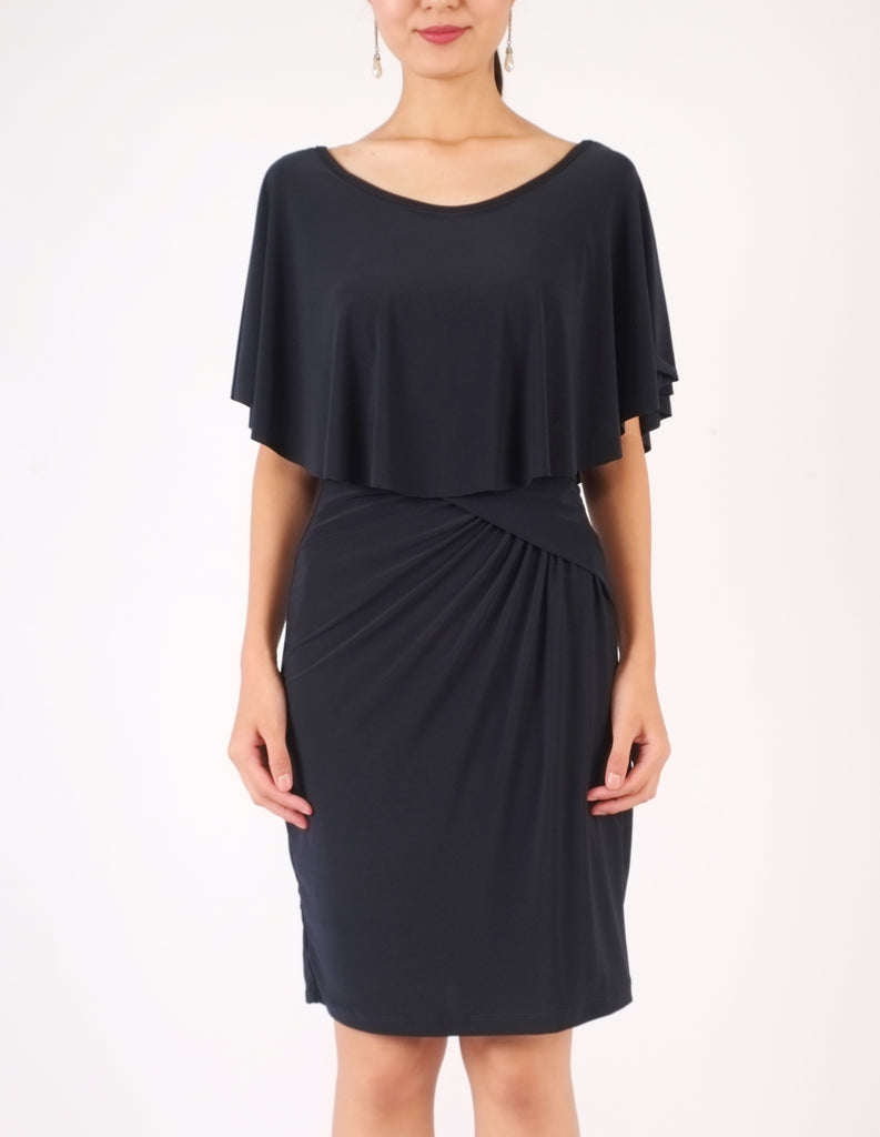Holly Off-Shoulder Short Dress (Navy)