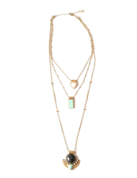 Noelle Mixed Stone Layered Necklace