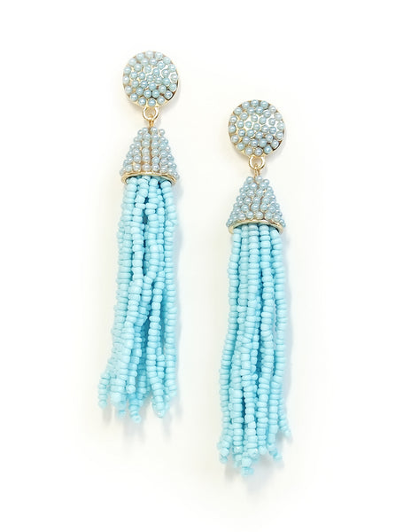 Paulina Beaded Tassel Earrings (Colors Available)