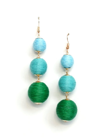 Perry Ombre Ball Drop Earrings (Colors Available)