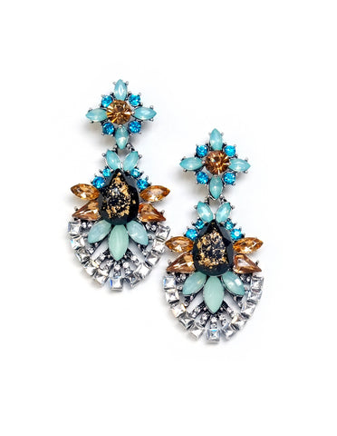 Priyanka Crystal Drop Earrings