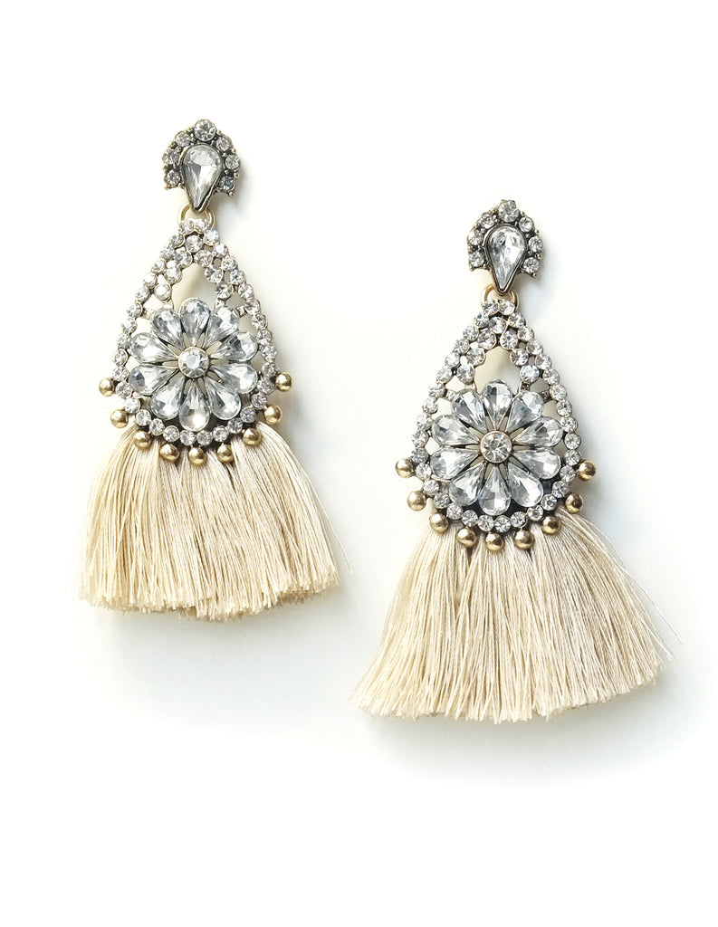 Raja Floral Tassel Earrings