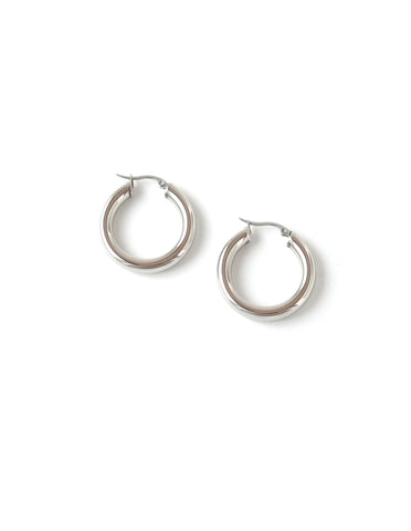 "Essential Silver Hoop Earrings (1.25"")"
