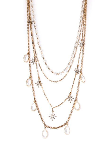 Stella Crystal Layered Necklace