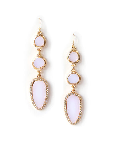 Portia White Dangling Earrings
