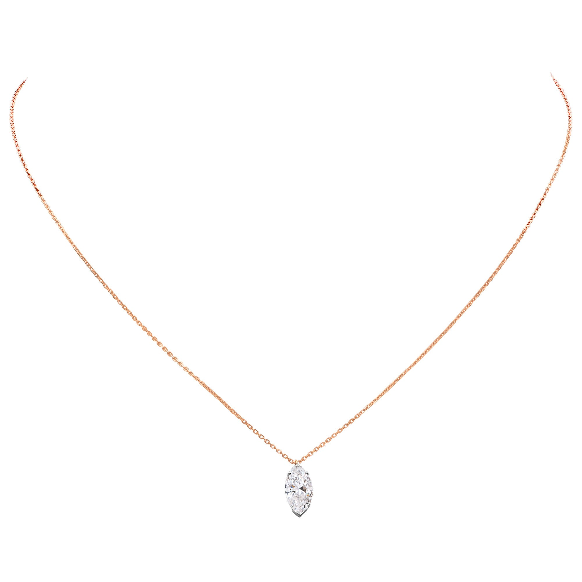 necklace cartier cut pendant marquis diamond expertissim heart