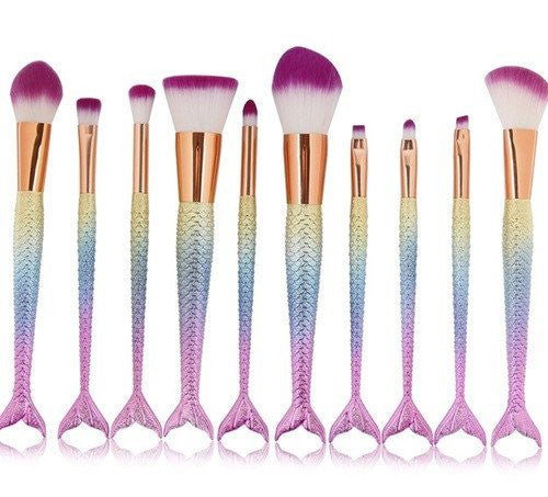 full makeup brush set. queen pro 10pcs makeup brush set full