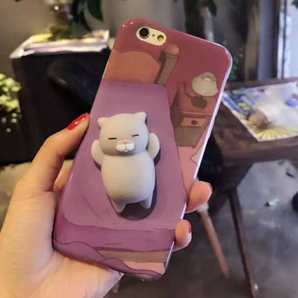 Squishy Cat Case : Squishy Relaxed Cat Phone Case - Choicest1