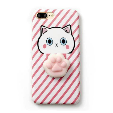 new arrival 2100c 03f80 Squishy Cat Paw Print Phone Case