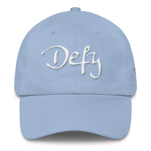 Defy Script Logo - 3D Puff Embroidered Cotton Cap