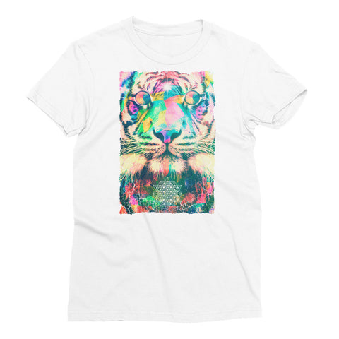 Psychedelic Tiger - Women's Short Sleeve T-Shirt