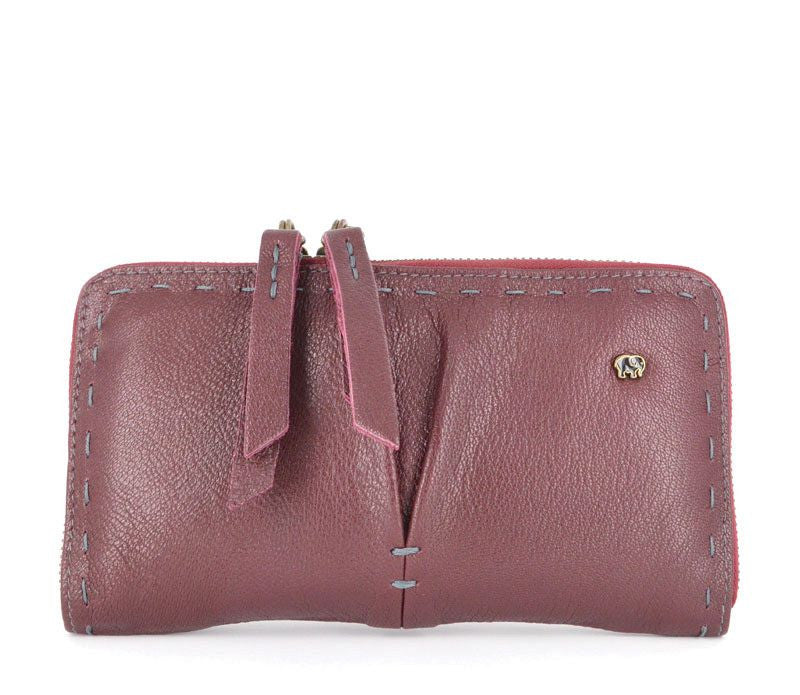 Owelthu Beetroot Wallet | Tsonga Handbags and Accessories | Handmade in South Africa