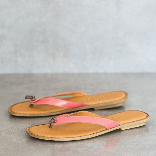 Laya Coral leather sandals | Tsonga USA