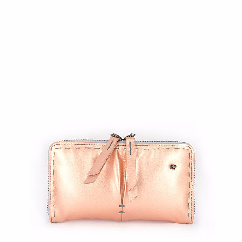 Owelthu Rose Gold Wallet | Tsonga Handbags and Accessories | Handmade in South Africa