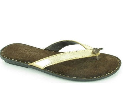 Tsonga Laya Gold leather sandals