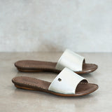 MALUKAZI Silver slide sandals | Tsonga USA