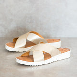 NOMBALI Bark Criss Cross Sandals | Tsonga USA