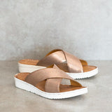 NOMBALI Pony Criss Cross Sandals | Tsonga USA