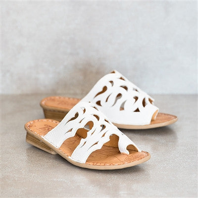 Tsonga Isivina white leather sandal | Tsonga USA