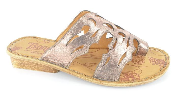 Tsonga Isivina metallic bronze leather sandal | Tsonga USA