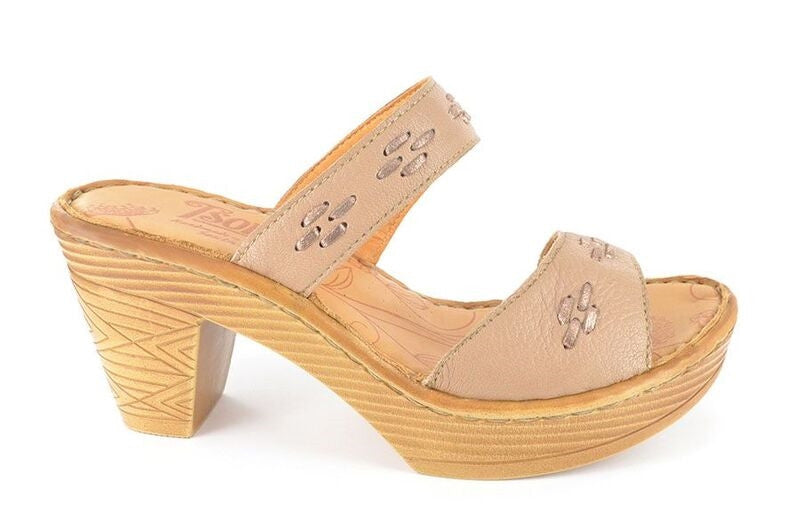 NABUYA Light Brown Heeled Sandals | Tsonga USA