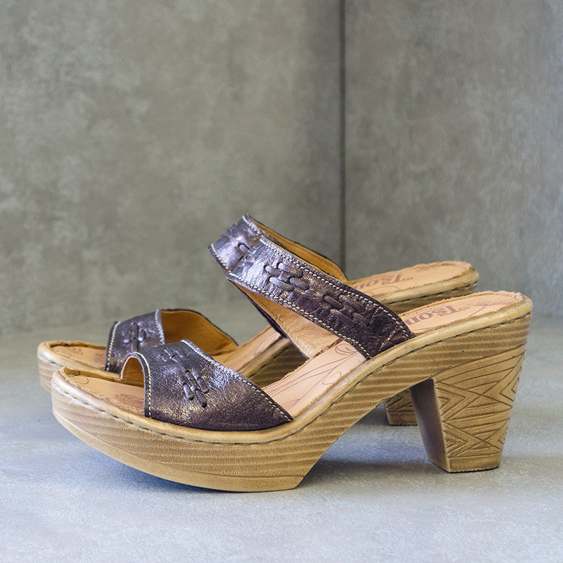 NABUYA Espresso Brown Heeled Sandals | Tsonga USA