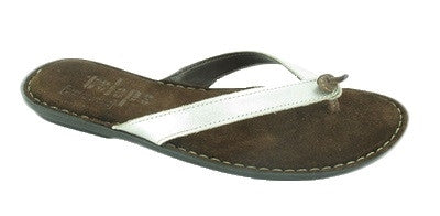 Tsonga Laya Silver leather sandals