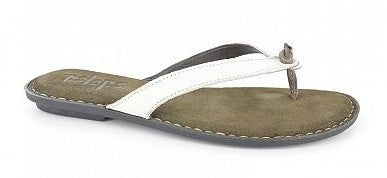 Tsonga Laya White leather sandals