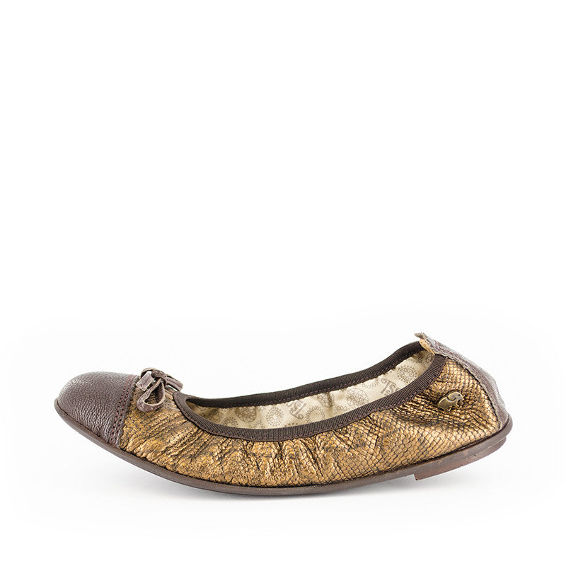 Tsonga Shumi Bronze/Coffee ballet flats | Tsonga | Handmade in South Africa
