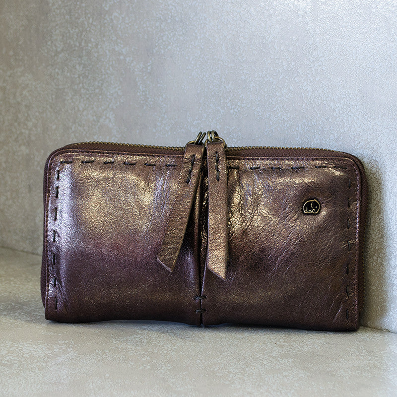 Owelthu Espresso Wallet | Tsonga Handbags and Accessories | Handmade in South Africa