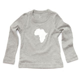 Continent Africa Long Sleeve Toddler Shirt Gray