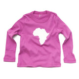 Continent Africa Long Sleeve Toddler Shirt Pink