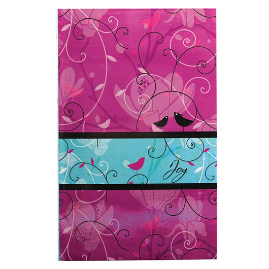 Joy in pink and aqua flexcover Journal