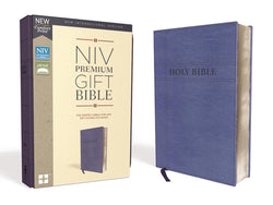 NIV, Premium Gift Bible, Leathersoft, Navy, Red Letter Edition, Comfort Print: The Perfect Bible for Any Gift-Giving Occasion