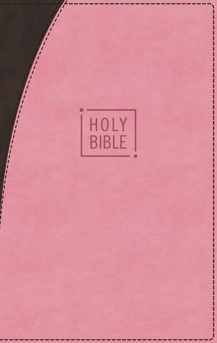 NIV, Premium Gift Bible, Leathersoft, Pink/Brown, Red Letter Edition, Comfort Print: The Perfect Bible for Any Gift-Giving Occasion