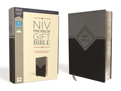 NIV, Premium Gift Bible, Leathersoft, Black/Gray, Red Letter Edition, Comfort Print: The Perfect Bible for Any Gift-Giving Occasion