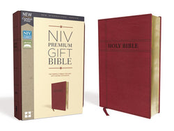 NIV, Premium Gift Bible, Leathersoft, Burgundy, Red Letter Edition, Comfort Print: The Perfect Bible for Any Gift-Giving Occasion