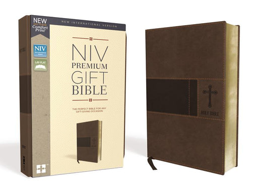 NIV, Premium Gift Bible, Leathersoft, Brown, Red Letter Edition, Comfort Print: The Perfect Bible for Any Gift-Giving Occasion