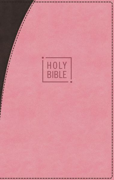 NIV, Premium Gift Bible, Leathersoft, Pink/Brown, Red Letter Edition, Indexed, Comfort Print: The Perfect Bible for Any Gift-Giving Occasion