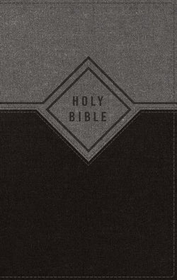 NIV, Premium Gift Bible, Leathersoft, Black/Gray, Red Letter Edition, Indexed, Comfort Print: The Perfect Bible for Any Gift-Giving Occasion