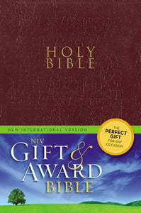NIV, Gift and Award Bible, Leather-Look, Burgundy, Red Letter Edition