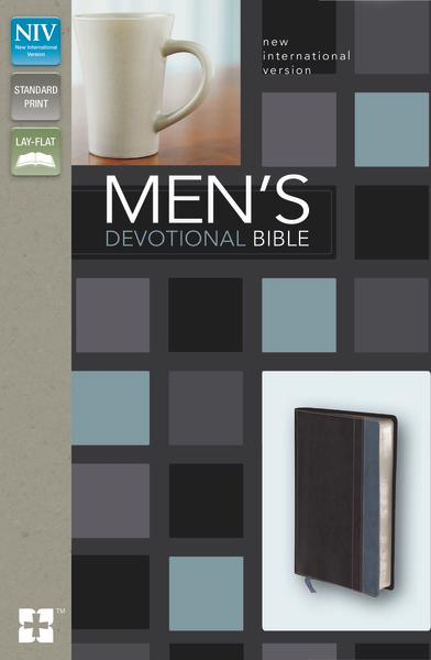 NIV, Men's Devotional Bible, Leathersoft, Black/Blue
