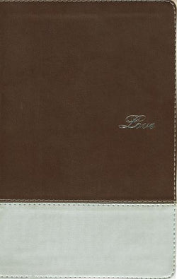 NIV, Couples' Devotional Bible, Leathersoft, Brown/Silver