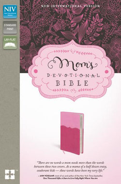 NIV, Mom's Devotional Bible, Leathersoft, Pink