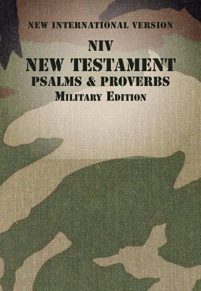 NIV, New Testament with Psalms and Proverbs, Military Edition, Paperback, Woodland Camo