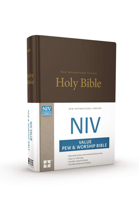 NIV, Value Pew and Worship Bible, Hardcover, Brown