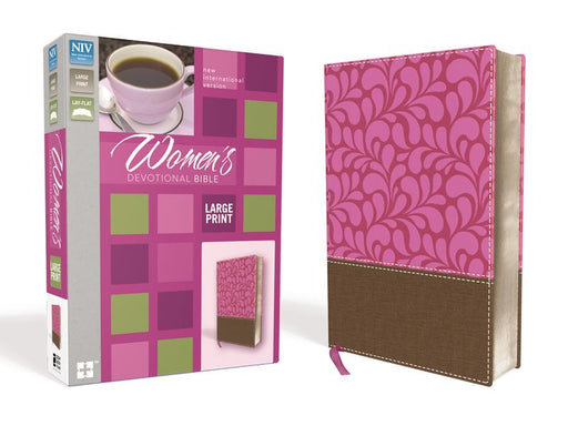NIV, Women's Devotional Bible, Large Print, Leathersoft, Brown/Pink