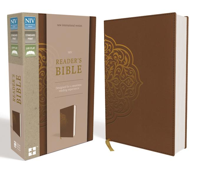 NIV, Reader's Bible, Leathersoft, Brown: Designed for a Seamless Reading Experience