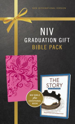 NIV, Graduation Gift, Bible Pack for Her, Pink, Red Letter Edition